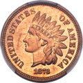 Proof Indian Cents, 1873 1C Closed 3 PR66 Red PCGS....