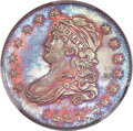 Patterns, 1827 25C Quarter Dollar, Judd-48, Pollock-49, High R.7, PR66 Red and Brown PCGS. CAC....