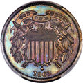 Patterns, 1863 2C Two Cents, Judd-315, Pollock-380, High R.7, PR65 Brown PCGS. CAC....