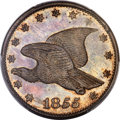 Patterns, 1855 1C Flying Eagle Cent, Judd-170a, R.7, PR64+ PCGS....