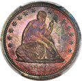1864 25C Seated Quarter, Judd-387, Pollock-455, High R.6, PR67 Red and Brown PCGS....(PCGS# 70558)