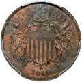 1864 2C Two Cents, Judd-370, Low R.7, PR64 Brown PCGS....(PCGS# 60540)