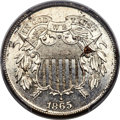 1865 2C Two Cent, Judd-408, Unlisted in Pollock, PR64+ Cameo PCGS. ...(PCGS# 800087)