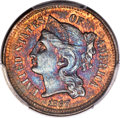 Patterns, 1867 3C Three Cent Nickel, Judd-559, Pollock-620, R.8, PR65 Red and Brown PCGS. CAC....