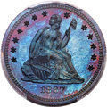 Patterns, 1867 25C Quarter Dollar, Judd-590, Pollock-654, High R.7, PR65 Red and Brown PCGS....