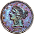 1872 $5 Liberty Head Half Eagle, Judd-1243, Pollock-1385, High R.7, PR67+ Brown PCGS....(PCGS# 61515)