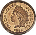 1859 1C Double-Headed Indian Cent, Judd-229a, Snow-PT5, Unique, MS63 PCGS....(PCGS# 21118)