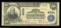 Sheridan, WY - $10 1902 Plain Back Fr. 627 The First NB Ch. # 4604 A common enough bank in small size, but definitely n...