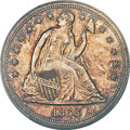 Proof Seated Dollars, 1866 $1 No Motto PR63+ PCGS. CAC. Judd-540, Pollock-605, R.8....