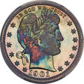 Proof Barber Quarters, 1901 25C PR68 PCGS. CAC....