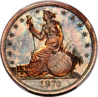 1873 T$1 Trade Dollar, Judd-1295, Pollock-1437, R.7, PR67+ Red and Brown PCGS. CAC....(PCGS# 71580)