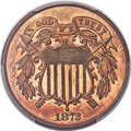 Two Cent Pieces, 1872 2C MS66 Red PCGS....