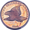 Proof Flying Eagle Cents, 1856 1C Snow-3 PR67+ PCGS. CAC....