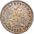 Early Dollars, 1795 $1 Flowing Hair, Three Leaves, Silver Plug, B-7, BB-18, R.3, MS65+ PCGS. CAC....