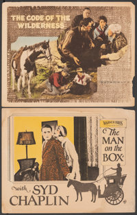 """The Man on the Box & Other Lot (Warner Bros., 1925). Fine+. Lobby Cards (2) (11"""" X 14""""). Comedy. ... (Tota..."""