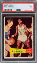Basketball Cards:Singles (Pre-1970), 1957 Topps Bill Russell #77 PSA NM 7....