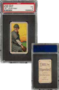 1909-11 T206 Drum Rube Kroh PSA VG 3 – The Only Confirmed Drum Back!