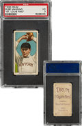 Baseball Cards:Singles (Pre-1930), 1909-11 T206 Drum Rube Manning (Pitching) PSA VG 3 - The Only Confirmed Drum Back!...