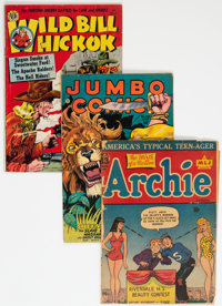 Golden Age Comics Group of 3 (Various Publishers, 1945-52) Condition: Average FR.... (Total: 3 Comic Books)