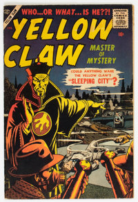 The Yellow Claw #3 (Atlas, 1957) Condition: Apparent FN