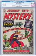 Silver Age (1956-1969):Superhero, Journey Into Mystery #83 (Marvel, 1962) CGC VG 4.0 Cream to off-white pages....