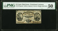 Fractional Currency:Third Issue, Fr. 1274SP 15¢ Third Issue Narrow Margin Face PMG About Uncirculated 50.. ...