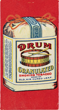 Early 20th Century Drum Granulated Smoking Tobacco Rolling Papers