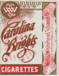 """Baseball Cards:Unopened Packs/Display Boxes, Unused 1910 """"Carolina Brights Cigarettes"""" Pack - Outer Shell. ..."""