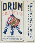 """Baseball Cards:Unopened Packs/Display Boxes, 1910 Drummond Tobacco """"Drum Cigarettes"""" Unused Pack - Only a Few Known. ..."""
