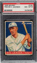 Baseball Cards:Singles (1930-1939), 1933 Goudey Travis Jackson #102 PSA NM-MT 8 - Only One Higher....