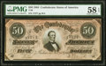 Confederate Notes:1864 Issues, T66 $50 1864 PF-8 Cr. 499 PMG Choice About Unc 58 EPQ.. ...