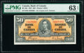 World Currency, Canada Bank of Canada $50 2.1.1937 Pick 63c BC-26c PMG Choice Uncirculated 63 EPQ.. ...
