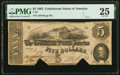 Confederate Notes:1862 Issues, H-A Plate Letter Error T53 $5 1862 PMG Very Fine 25, COC.. ...