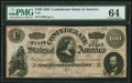 Confederate Notes:1864 Issues, T65 $100 1864 PF-2 Cr. 493 PMG Choice Uncirculated 64.. ...