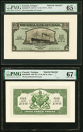 World Currency, Canada St. John's, Antigua- Royal Bank of Canada 5 Dollars (£1-0-10) 3.1.1938 Pick S117p Ch.# 630-26-02FP; BP Front and Back... (Total: 2 notes)