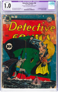 Detective Comics #58 (DC, 1941) CGC Apparent FR 1.0 Sight (C-1) Cream to off-white pages