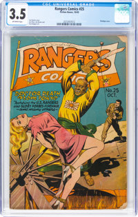 Rangers Comics #25 (Fiction House, 1945) CGC VG- 3.5 Off-white pages