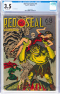 Golden Age (1938-1955):Superhero, Red Seal Comics #19 (Chesler, 1947) CGC VG- 3.5 Off-white pages....