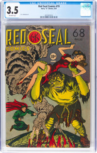 Red Seal Comics #19 (Chesler, 1947) CGC VG- 3.5 Off-white pages