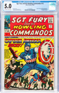 Silver Age (1956-1969):Superhero, Sgt. Fury and His Howling Commandos #13 (Marvel, 1964) CGC VG/FN 5.0 Off-white to white pages....