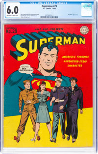 Superman #29 (DC, 1944) CGC FN 6.0 Off-white to white pages