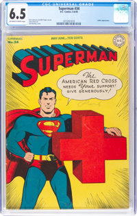 Superman #34 (DC, 1945) CGC FN+ 6.5 Off-white to white pages