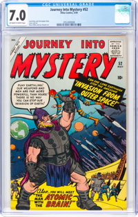 Journey Into Mystery #52 (Marvel, 1959) CGC FN/VF 7.0 Off-white to white pages