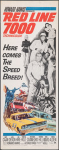 """Movie Posters:Sports, Red Line 7000 (Paramount, 1965). Rolled, Fine/Very Fine. Insert (14"""" X 36""""). Sports.. ..."""