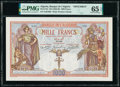 World Currency, Algeria Banque de l'Algerie 1000 Francs ND (1926-39) Pick 83s Specimen PMG Gem Uncirculated 65 EPQ.. ...