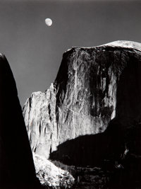 Ansel Adams (American, 1902-1984) Moon and Half Dome, Yosemite National Park, California, 1960 Gelat