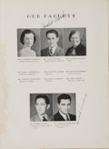 Football Collectibles:Publications, 1941 Vince Lombardi Signed High School Yearbook. ...
