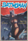 "Movie Posters:Action, Batwoman (Akin Film, 1970s). Folded, Very Fine/Near Mint. Turkish One Sheet (27"" X 39.25""). Action.. ..."