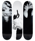 Collectible, Supreme X Robert Longo. Set of Three Skate Decks, 2011. Screenprints on skate decks. 32 x 8 inches (81.3 x 20.3 cm) (eac... (Total: 3 Items)