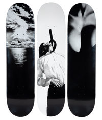 Supreme X Robert Longo Set of Three Skate Decks, 2011 Screenprints on skate decks 32 x 8 inches (